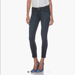 PAIGE Verdugo Ankle Raw Hem Dark Wash Jeans